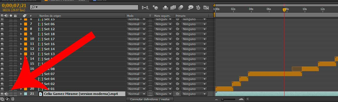 como escuchar el audio en after effects