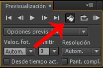 previsualizacion del audio en after effects