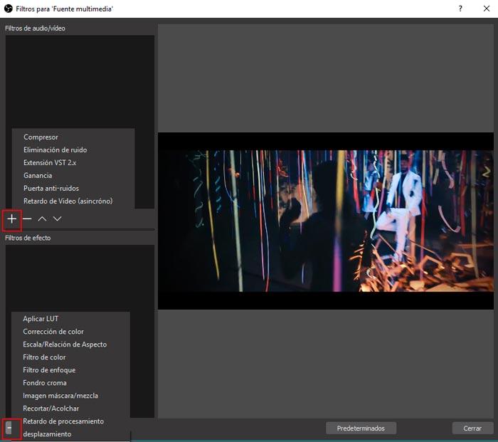 filtros open broadcast