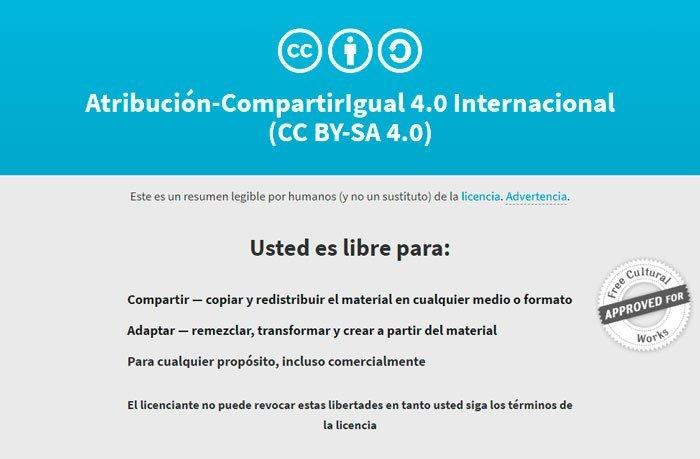licencia cc-by sa