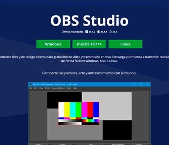 Open Broadcaster Software programa para grabacion y streaming