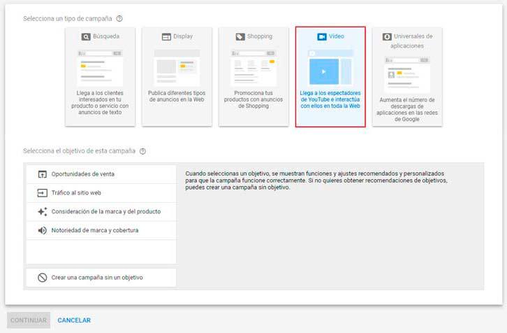 publicidad video google ads