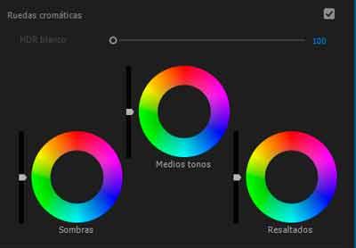 ruedas cromaticas con adobe premiere