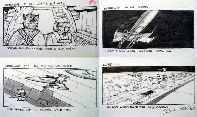 ejemplo storyboard starwars