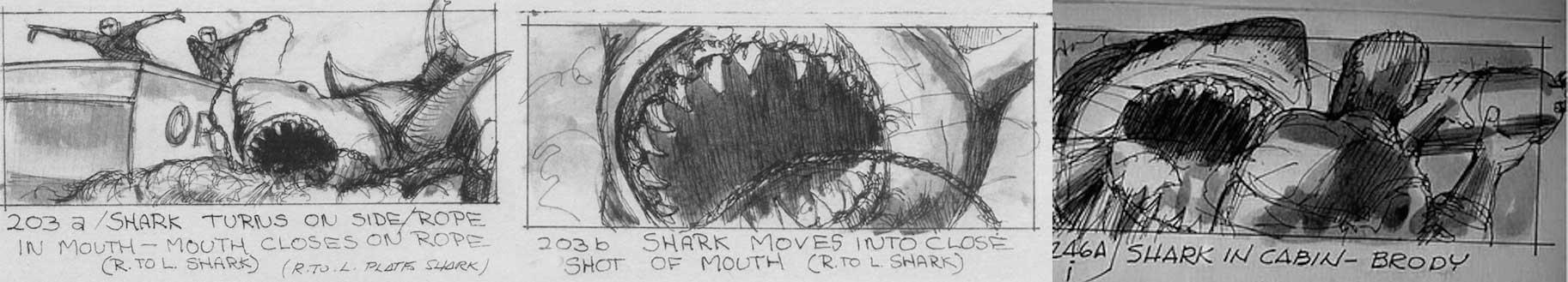 storyboard ejemplo tiburon