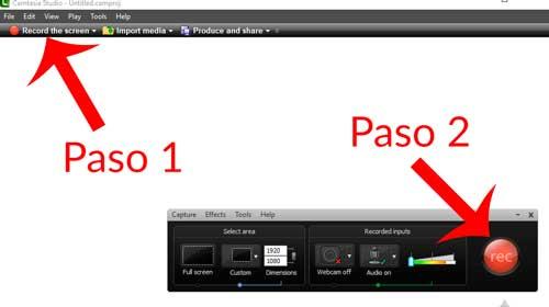 grabar pantalla con camtasia studio